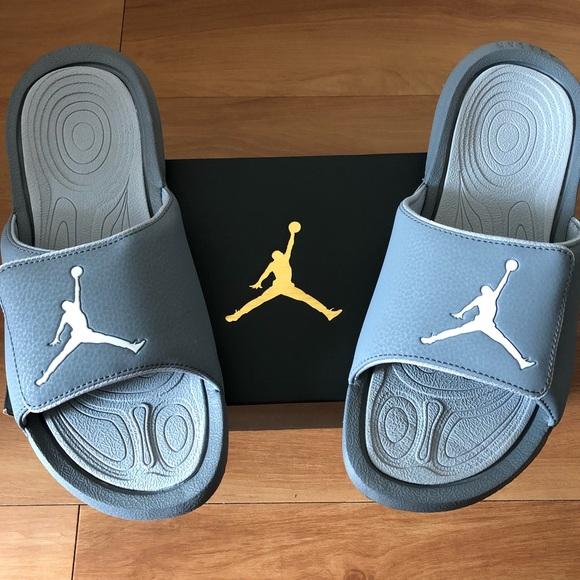 new product 79f0b eb285 Air Jordan Hydro 6 Grey Slide Sandals Size 9 NEW NWT